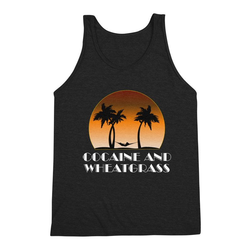 Cocaine & Wheatgrass Men's Triblend Tank by Rocks Off Designs