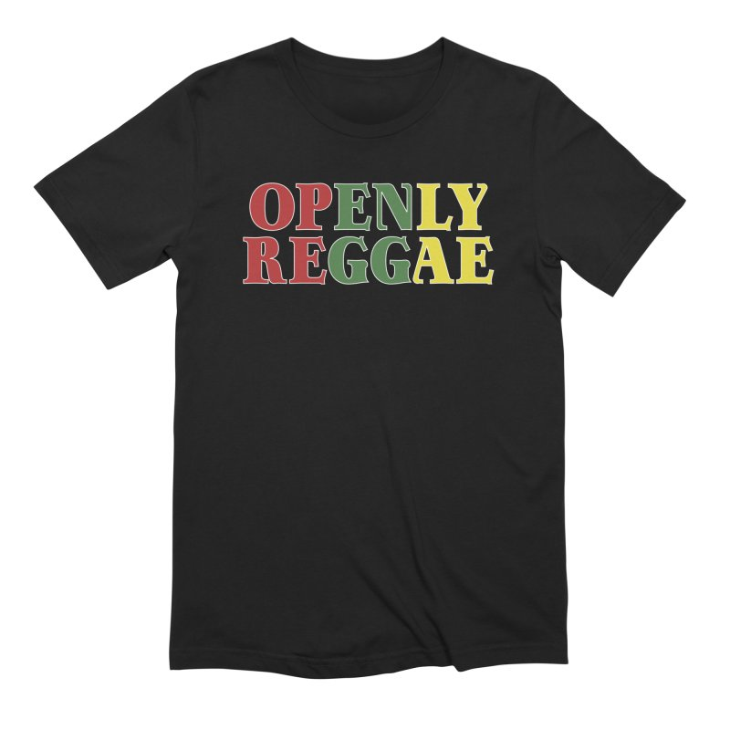 Openly Reggae in Men's Extra Soft T-Shirt Black by Rocks Off Designs