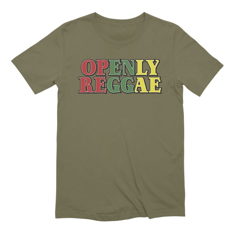 Openly Reggae Men's Extra Soft T-Shirt by Rocks Off Designs