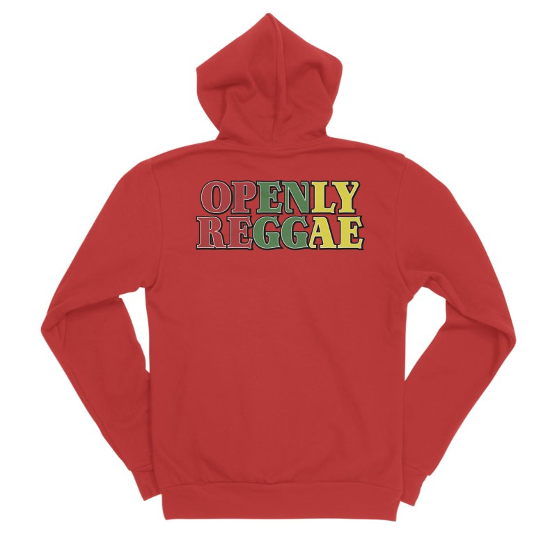 Openly Reggae Men's Sponge Fleece Zip-Up Hoody by Rocks Off Designs