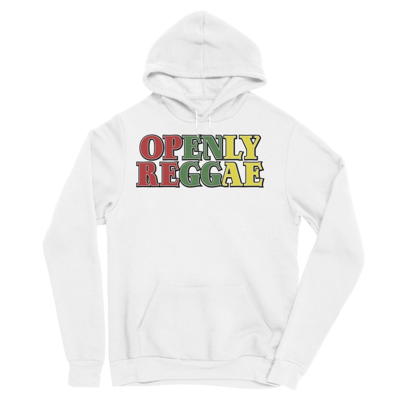 Openly Reggae Men's Sponge Fleece Pullover Hoody by Rocks Off Designs