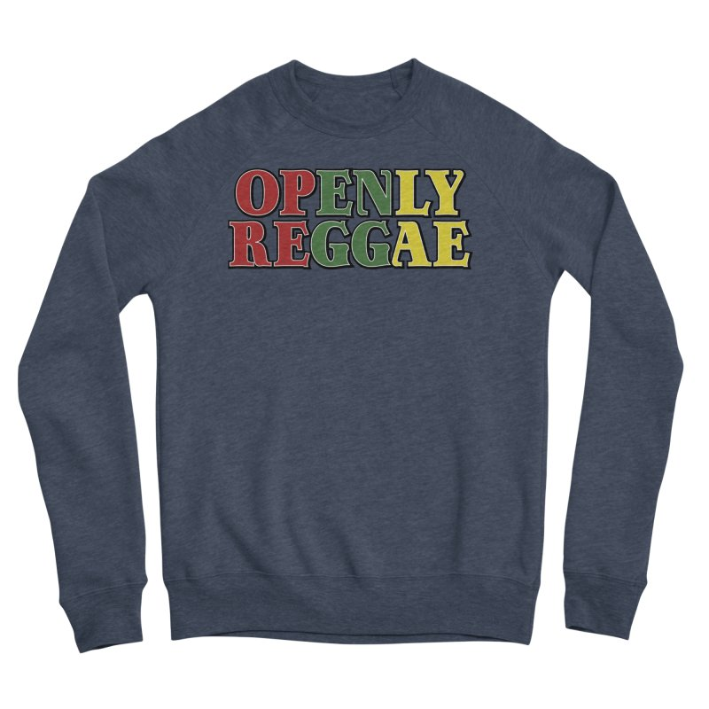 Openly Reggae Men's Sponge Fleece Sweatshirt by Rocks Off Designs