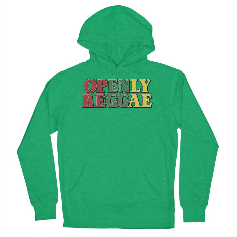 Openly Reggae Men's French Terry Pullover Hoody by Rocks Off Designs