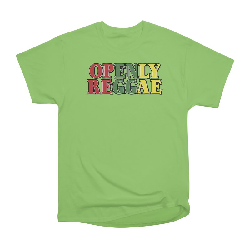 Openly Reggae Men's Heavyweight T-Shirt by Rocks Off Designs