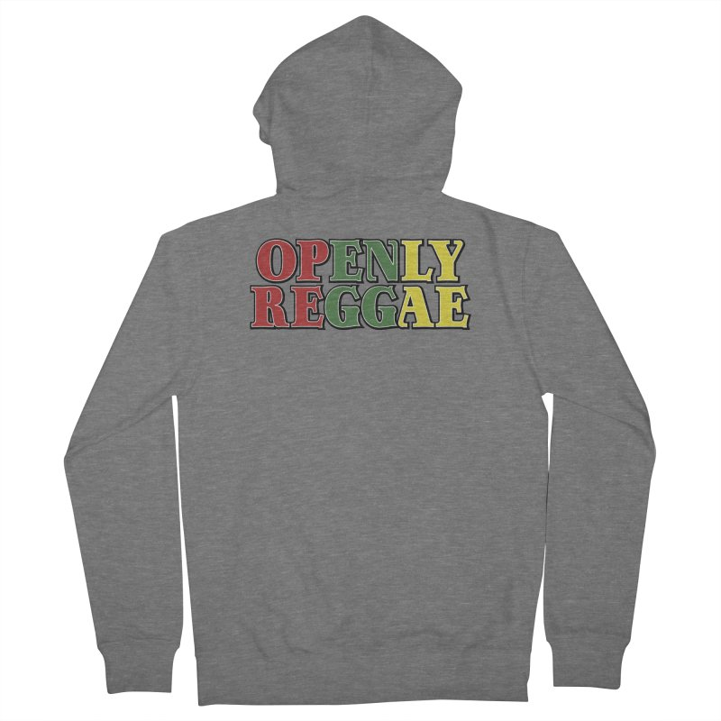 Openly Reggae Women's French Terry Zip-Up Hoody by Rocks Off Designs