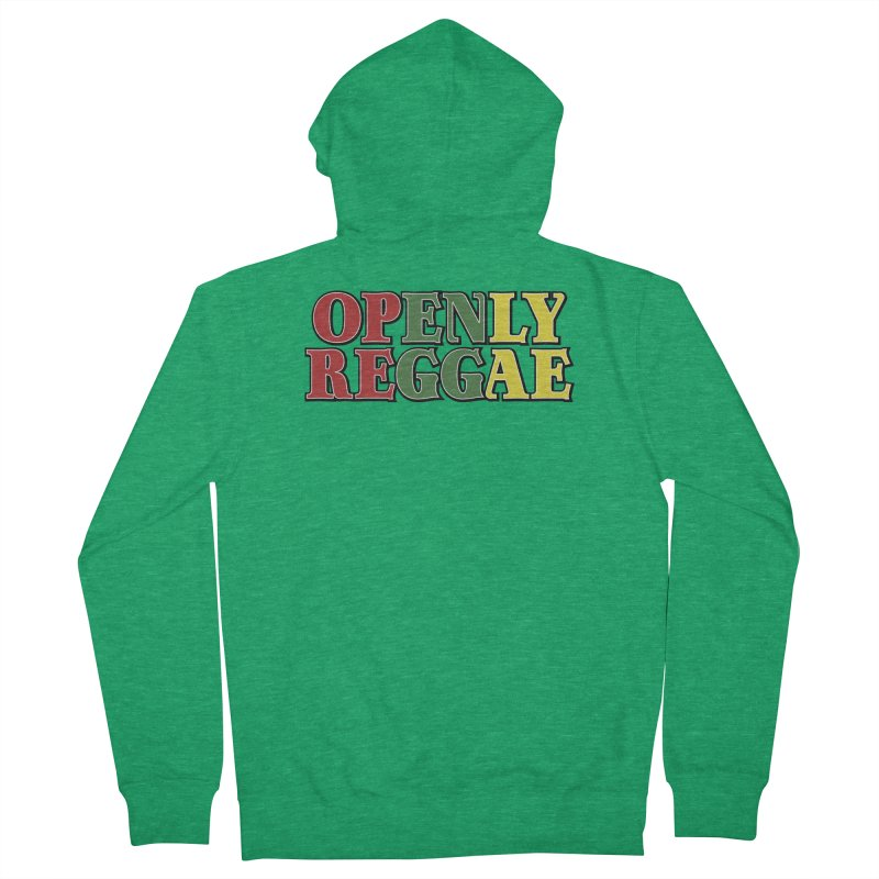 Openly Reggae Men's French Terry Zip-Up Hoody by Rocks Off Designs