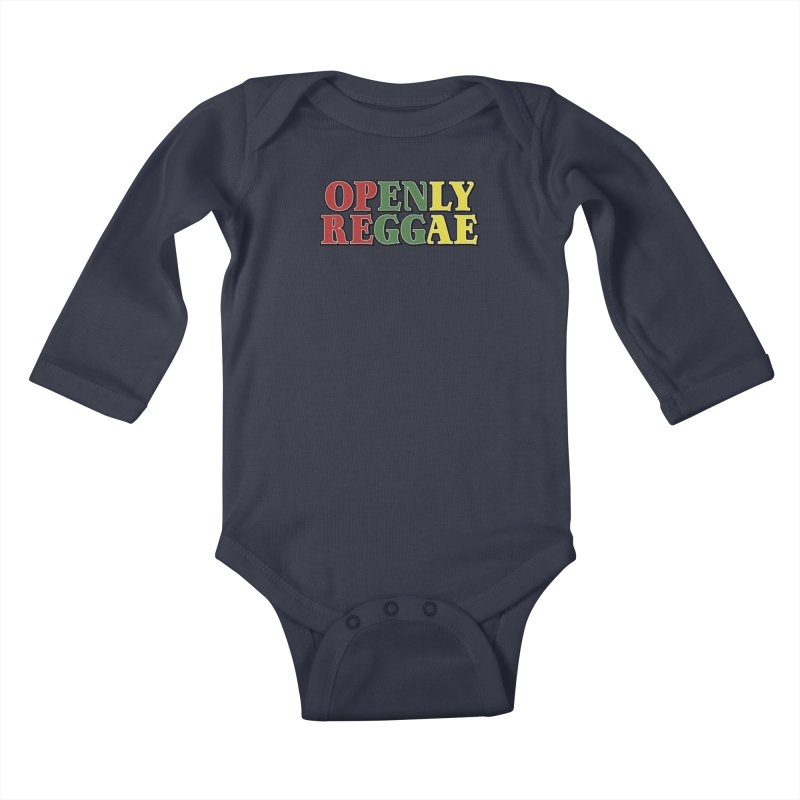 Openly Reggae Kids Baby Longsleeve Bodysuit by Rocks Off Designs