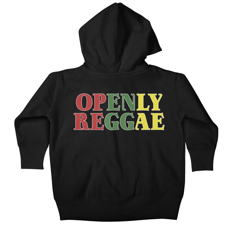 Openly Reggae Kids Baby Zip-Up Hoody by Rocks Off Designs