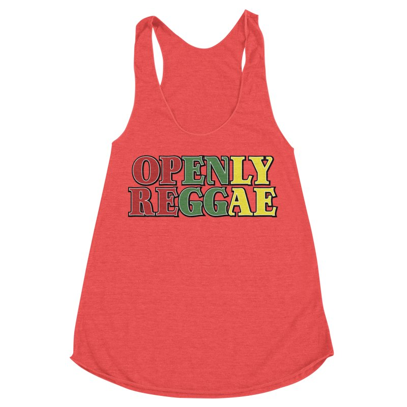 Openly Reggae Women's Racerback Triblend Tank by Rocks Off Designs