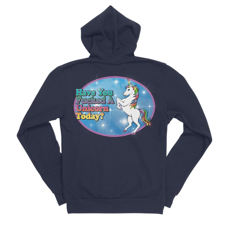 Unicorn Love Men's Sponge Fleece Zip-Up Hoody by Rocks Off Designs