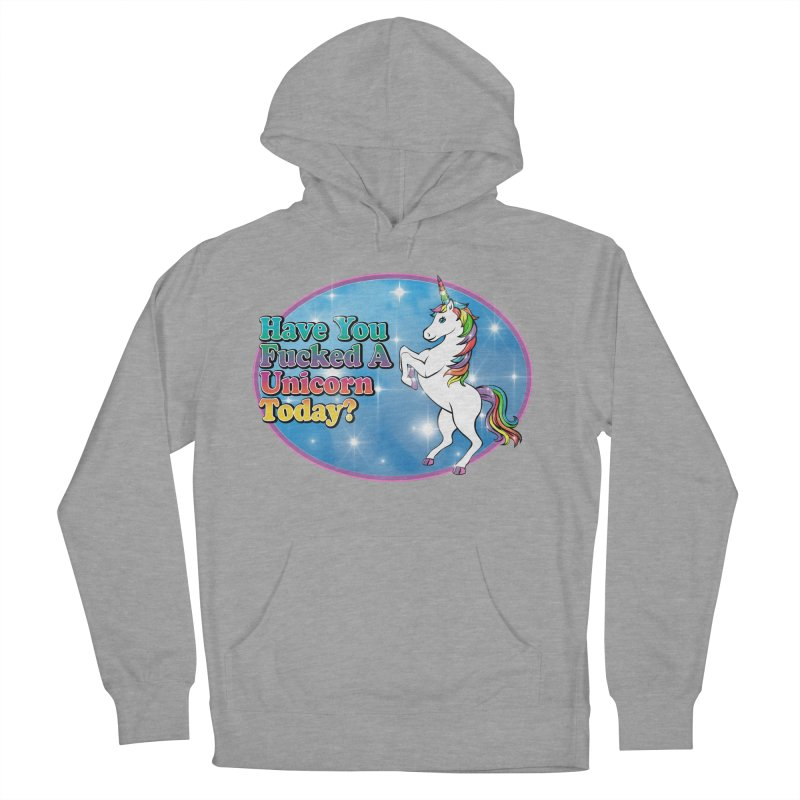 Unicorn Love Men's French Terry Pullover Hoody by Rocks Off Designs