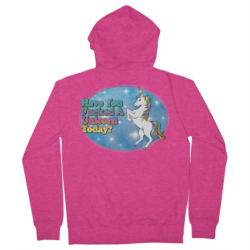 Unicorn Love Women's French Terry Zip-Up Hoody by Rocks Off Designs