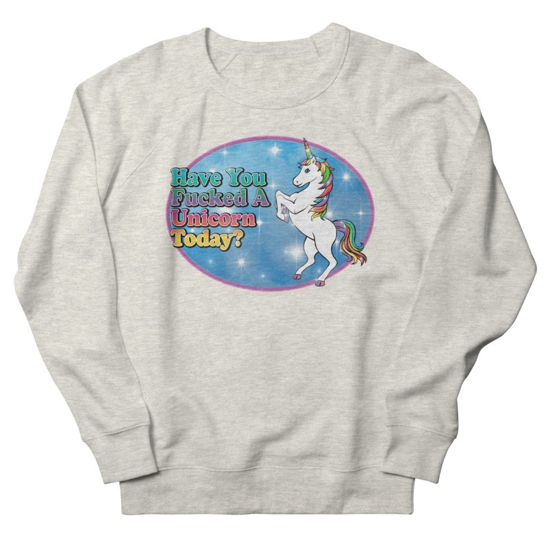 Unicorn Love Men's French Terry Sweatshirt by Rocks Off Designs
