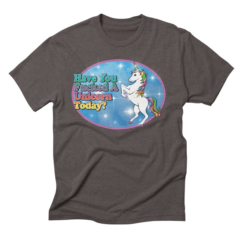 Unicorn Love Men's Triblend T-Shirt by Rocks Off Designs