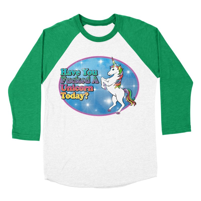 Unicorn Love Women's Baseball Triblend Longsleeve T-Shirt by Rocks Off Designs
