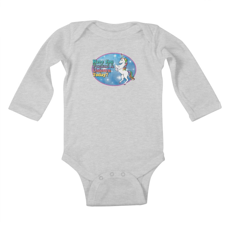 Unicorn Love Kids Baby Longsleeve Bodysuit by Rocks Off Designs