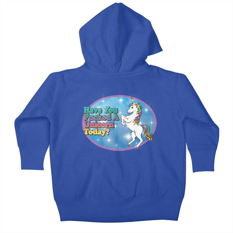 Unicorn Love Kids Baby Zip-Up Hoody by Rocks Off Designs