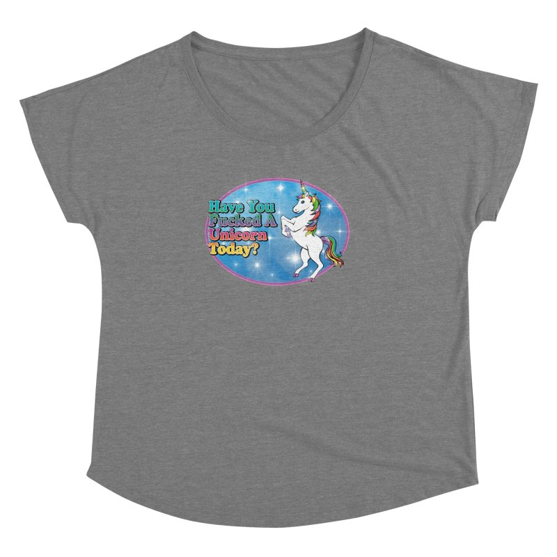 Unicorn Love Women's Dolman Scoop Neck by Rocks Off Designs