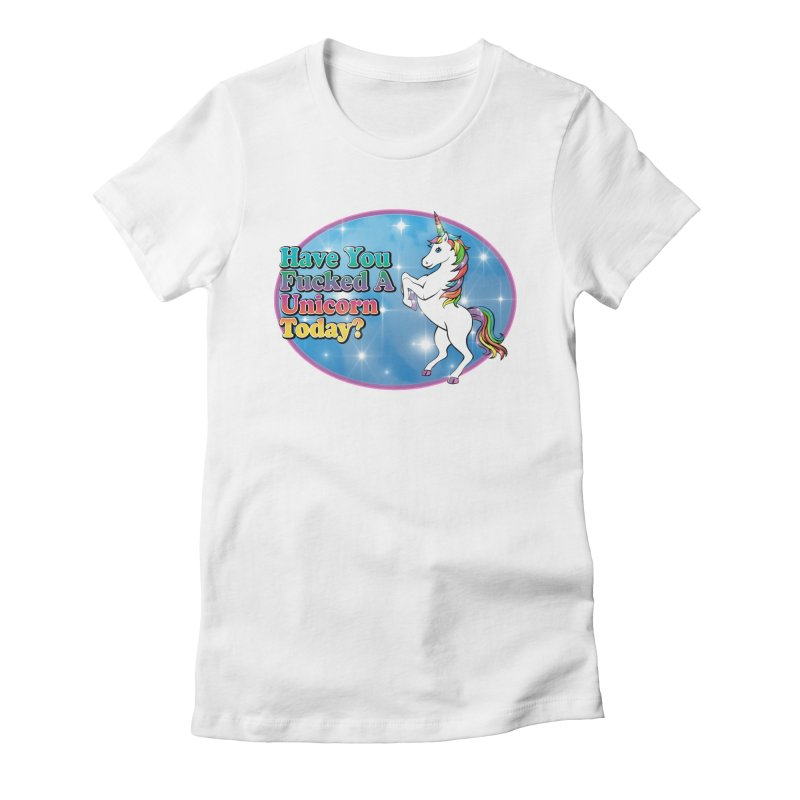 Unicorn Love Women's Fitted T-Shirt by Rocks Off Designs