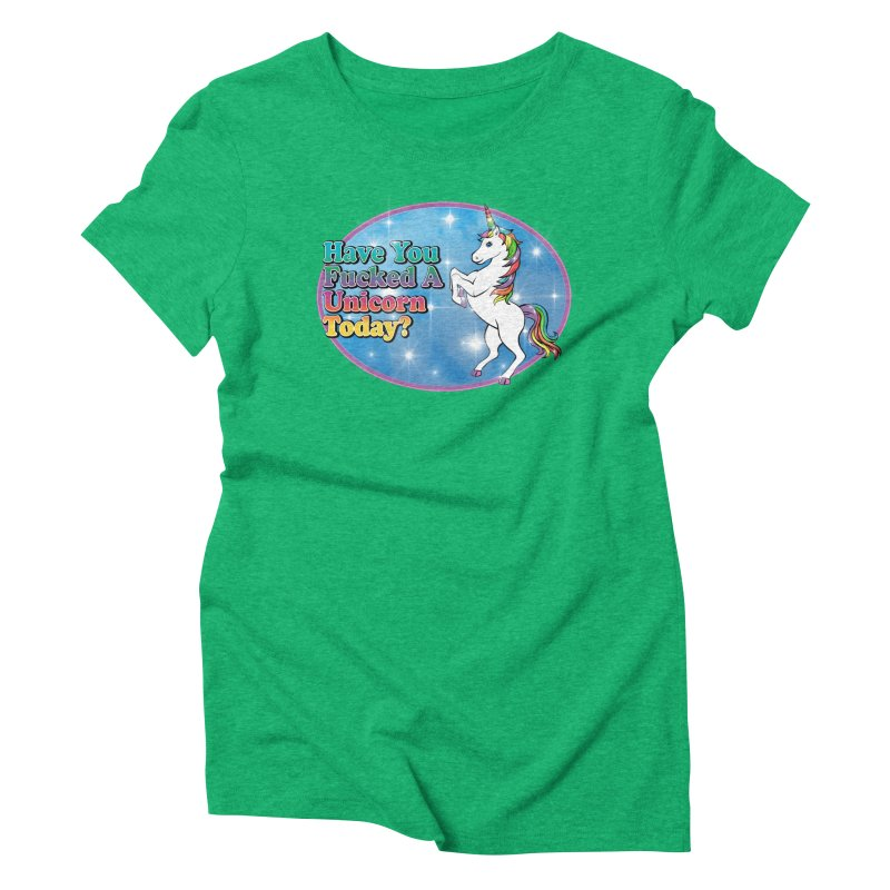 Unicorn Love Women's Triblend T-Shirt by Rocks Off Designs