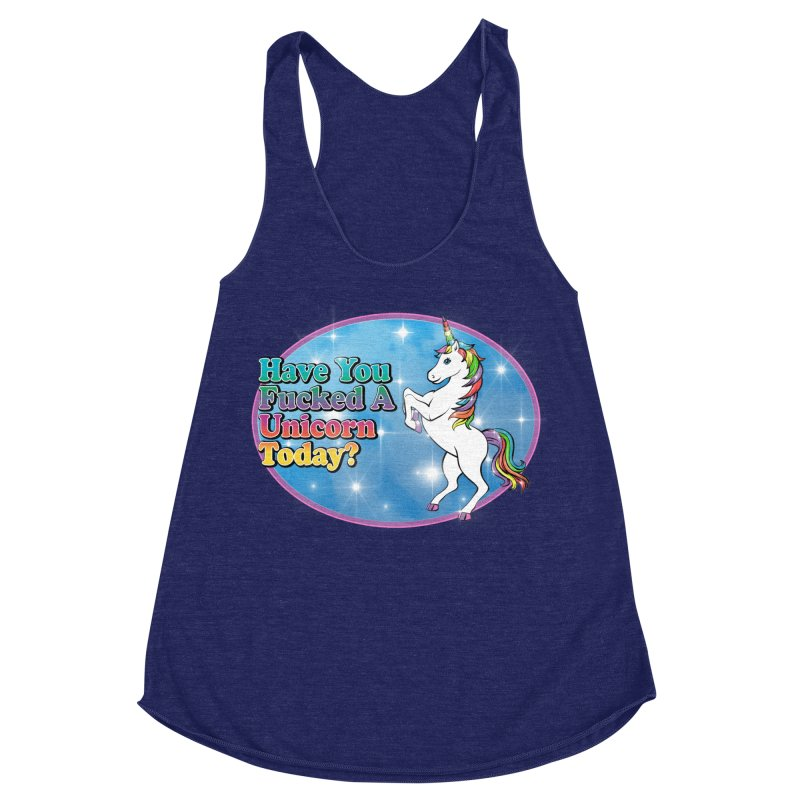 Unicorn Love Women's Racerback Triblend Tank by Rocks Off Designs