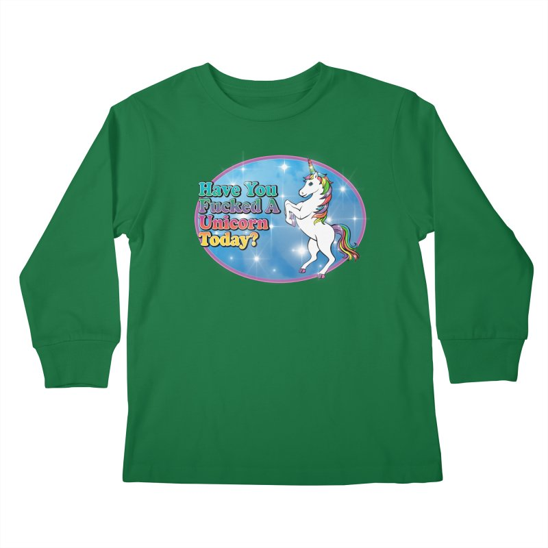 Unicorn Love Kids Longsleeve T-Shirt by Rocks Off Designs