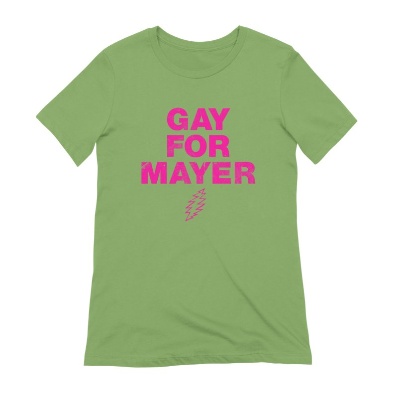 Gay For Mayer Women's Extra Soft T-Shirt by Rocks Off Designs