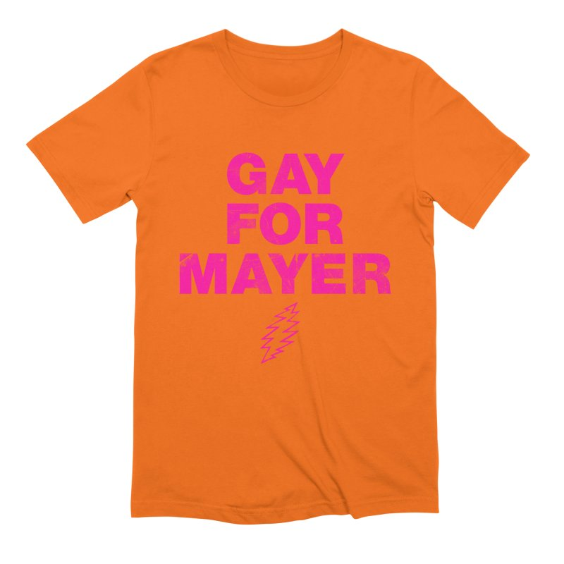 Gay For Mayer Men's Extra Soft T-Shirt by Rocks Off Designs