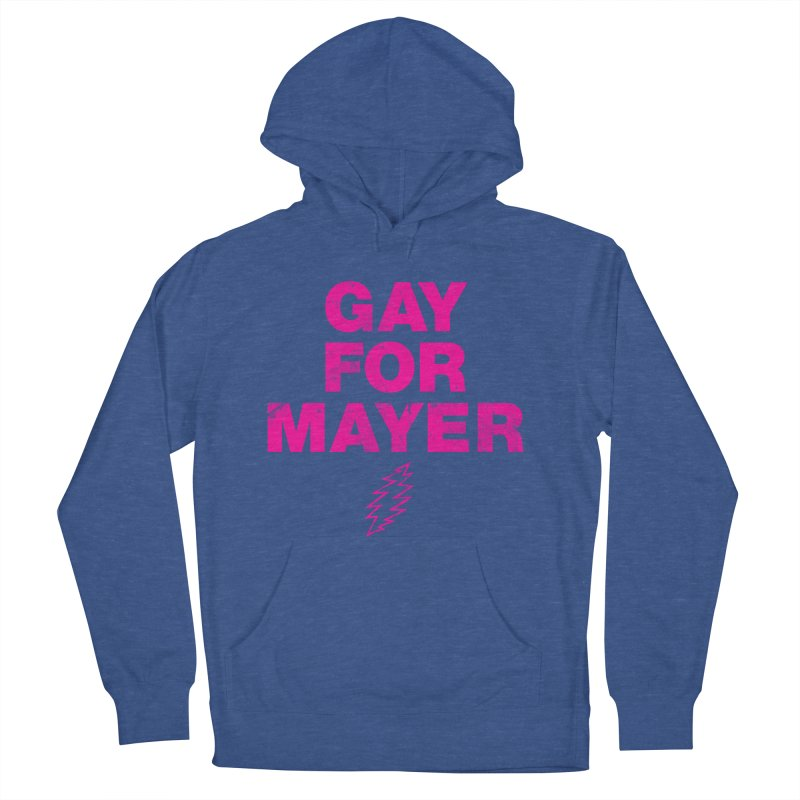 Gay For Mayer Men's French Terry Pullover Hoody by Rocks Off Designs