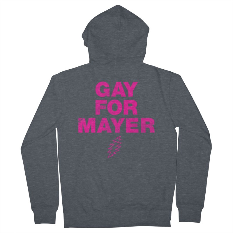 Gay For Mayer Women's French Terry Zip-Up Hoody by Rocks Off Designs