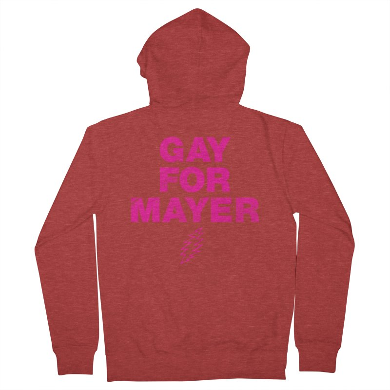 Gay For Mayer Men's French Terry Zip-Up Hoody by Rocks Off Designs