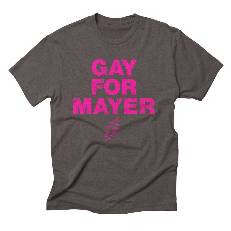 Gay For Mayer Men's Triblend T-Shirt by Rocks Off Designs