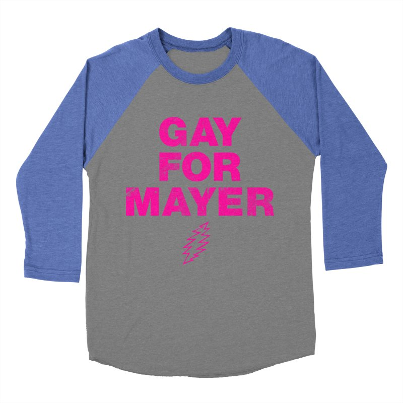 Gay For Mayer Women's Baseball Triblend Longsleeve T-Shirt by Rocks Off Designs