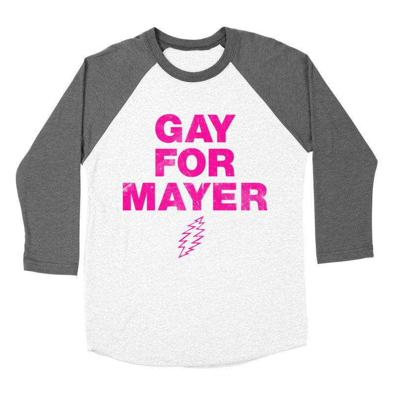 Gay For Mayer Men's Baseball Triblend Longsleeve T-Shirt by Rocks Off Designs