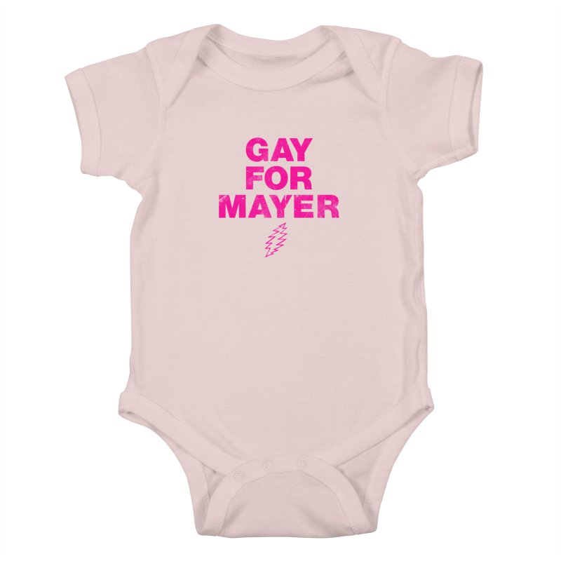 Gay For Mayer Kids Baby Bodysuit by Rocks Off Designs