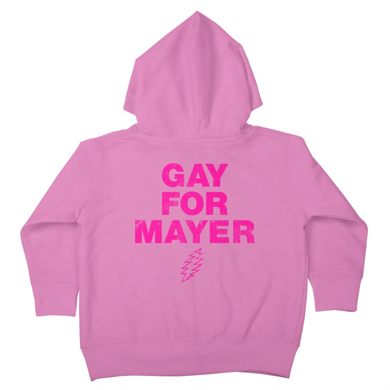 Gay For Mayer Kids Toddler Zip-Up Hoody by Rocks Off Designs