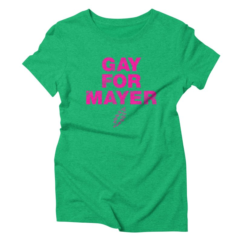 Gay For Mayer Women's Triblend T-Shirt by Rocks Off Designs