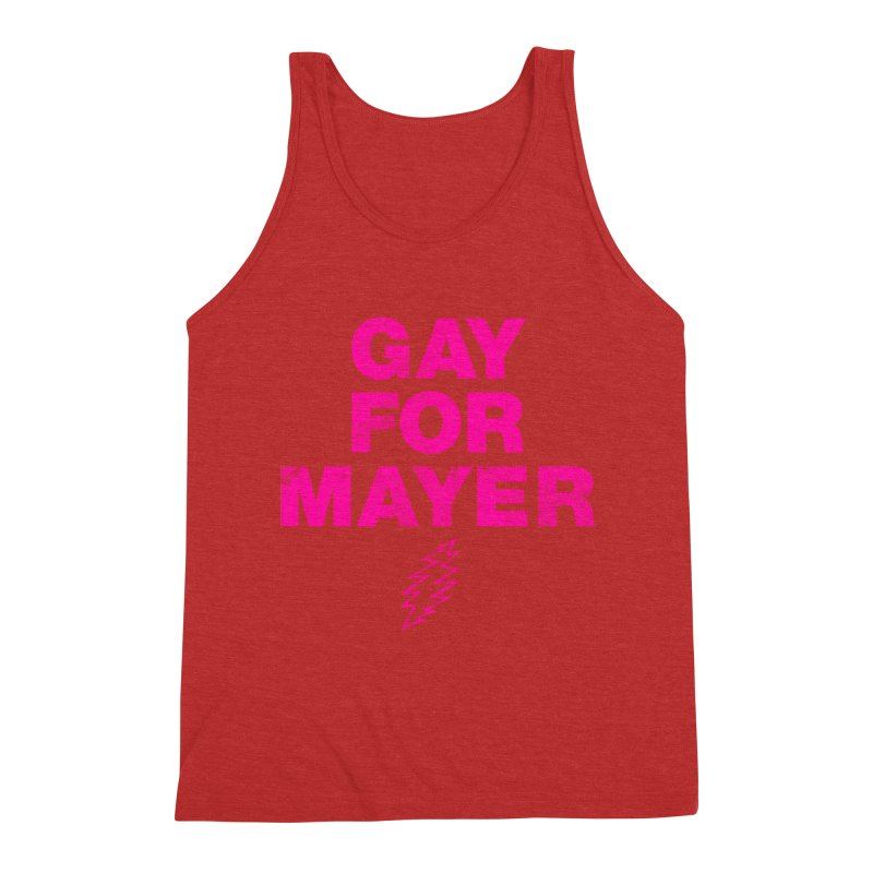 Gay For Mayer Men's Triblend Tank by Rocks Off Designs