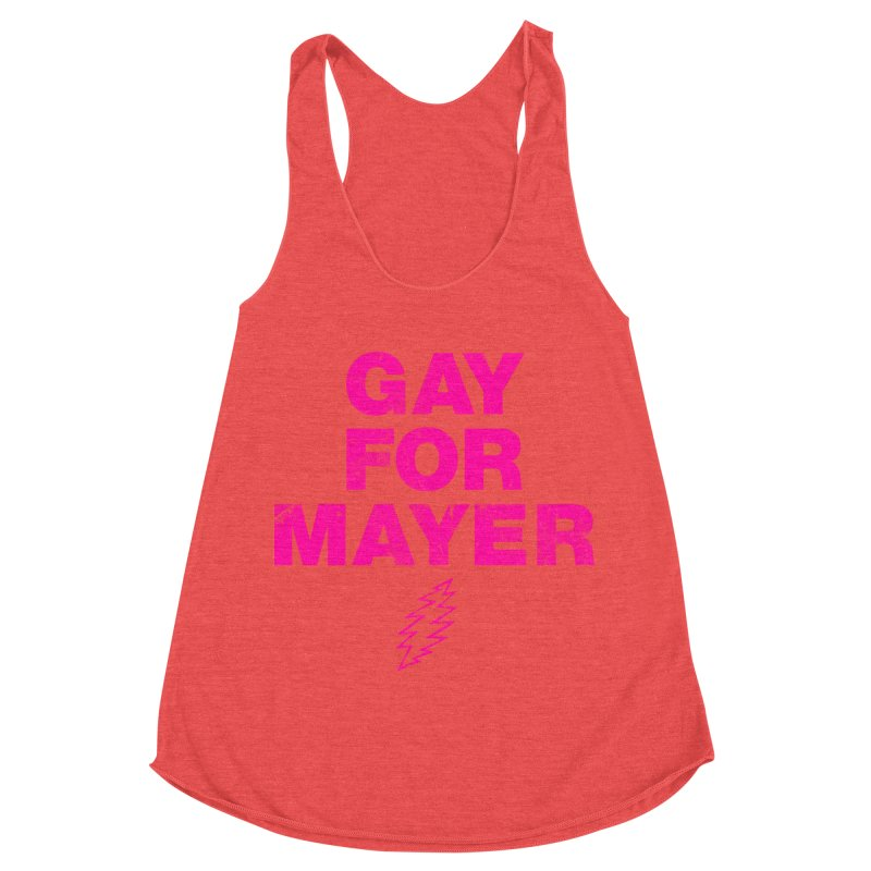 Gay For Mayer Women's Racerback Triblend Tank by Rocks Off Designs