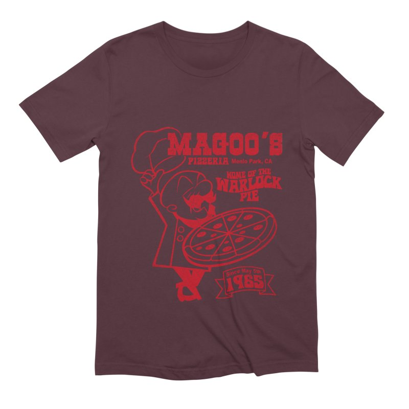 Magoo's Pizzeria Men's Extra Soft T-Shirt by Rocks Off Designs