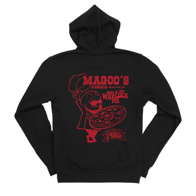 Magoo's Pizzeria Men's Sponge Fleece Zip-Up Hoody by Rocks Off Designs