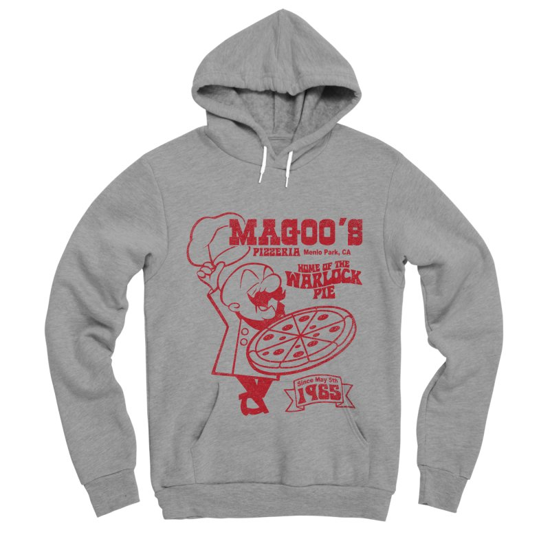 Magoo's Pizzeria Men's Sponge Fleece Pullover Hoody by Rocks Off Designs