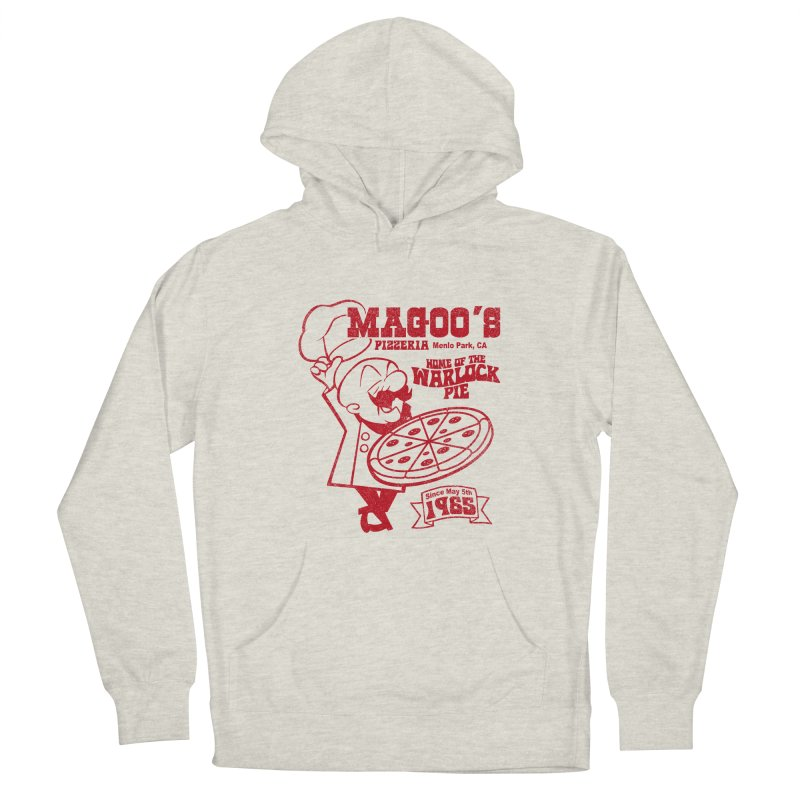 Magoo's Pizzeria Men's French Terry Pullover Hoody by Rocks Off Designs