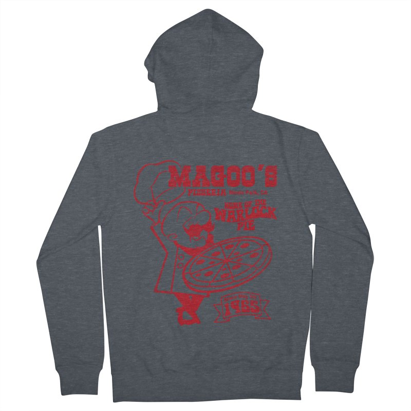 Magoo's Pizzeria Men's French Terry Zip-Up Hoody by Rocks Off Designs