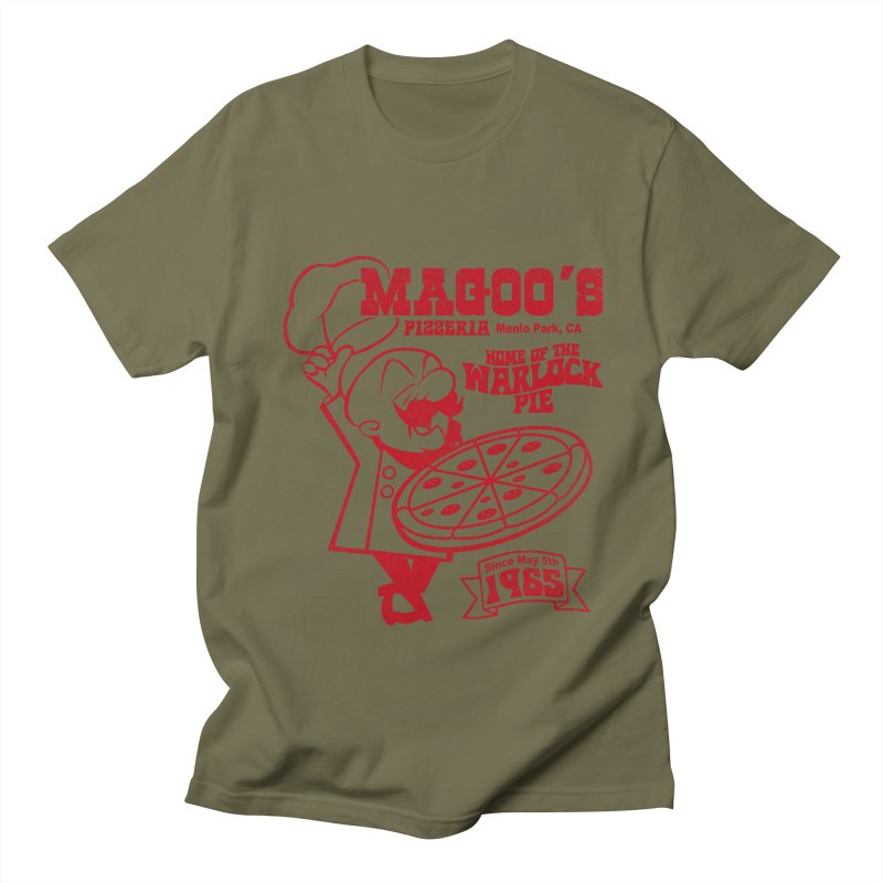 Magoo's Pizzeria Men's Regular T-Shirt by Rocks Off Designs