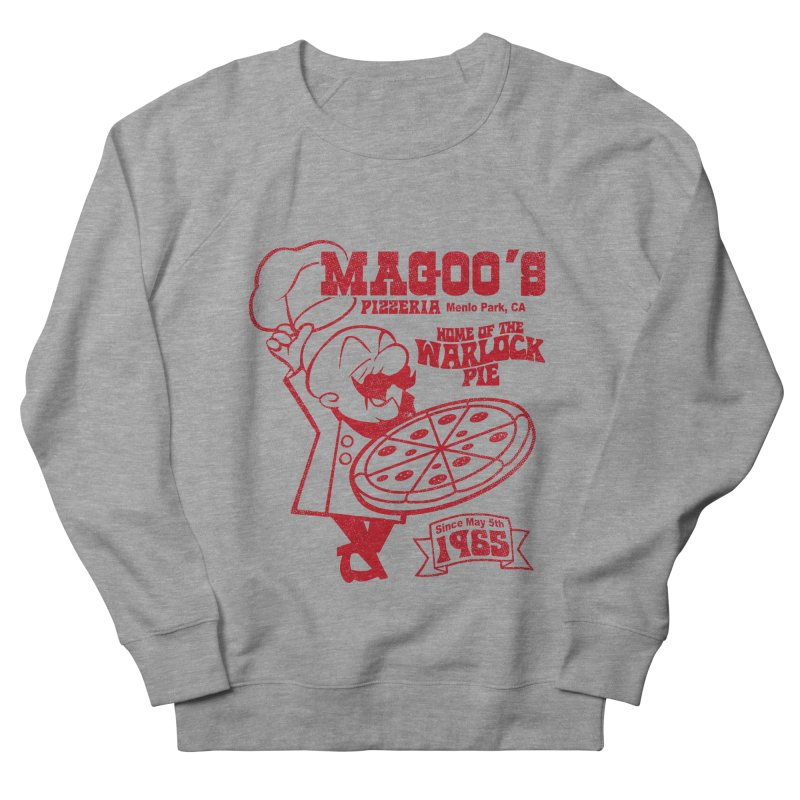 Magoo's Pizzeria Men's French Terry Sweatshirt by Rocks Off Designs