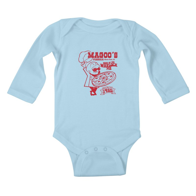Magoo's Pizzeria Kids Baby Longsleeve Bodysuit by Rocks Off Designs