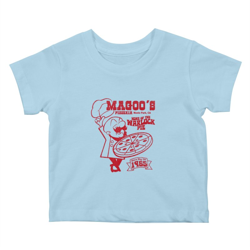 Magoo's Pizzeria Kids Baby T-Shirt by Rocks Off Designs