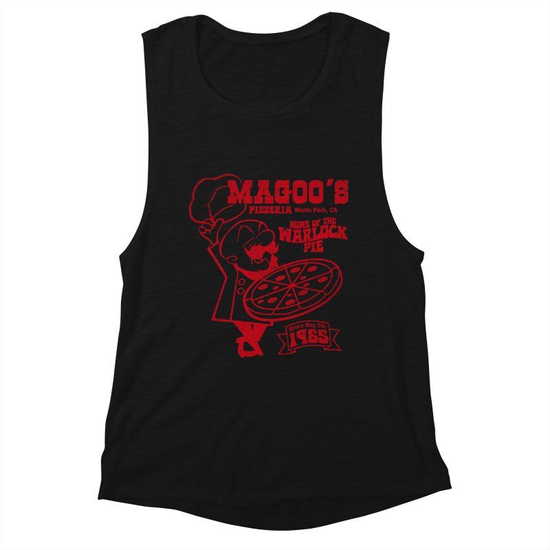 Magoo's Pizzeria Women's Muscle Tank by Rocks Off Designs