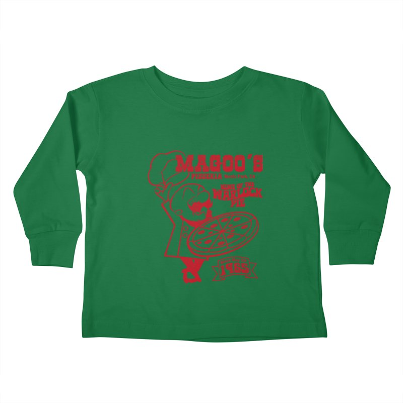 Magoo's Pizzeria Kids Toddler Longsleeve T-Shirt by Rocks Off Designs